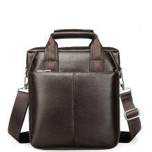PU Leather Small Briefcase Crossbody Shoulder Handbag