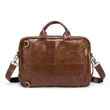 Genuine Leather Men's Briefcases 14inch Laptop Bag