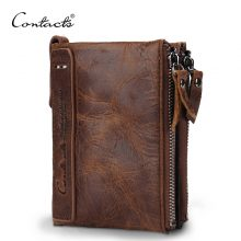 Genuine Crazy Horse Cowhide Leather Men's Wallet