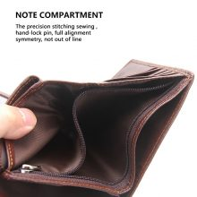 Genuine Leather Mens Passport Holder Wallet