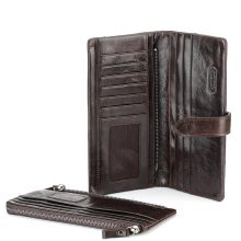 Classic European and American Crazy Horse Leather Wallet