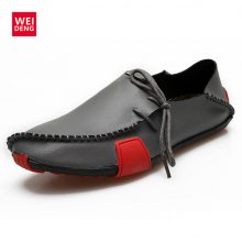 WeiDeng Casual Flat Boat Loafers Special Import