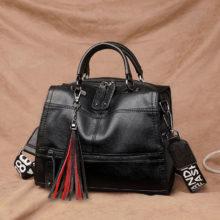 Retro Wide Shoulder Strap Shoulder Bag